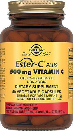 Solgar Эстер-С плюс Витамин C 500 мг, капсулы, 50 шт.