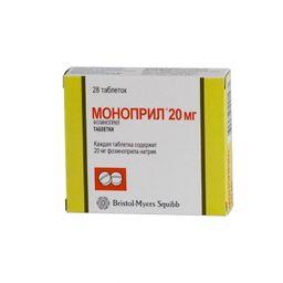 Моноприл, 20 мг, таблетки, 28 шт.