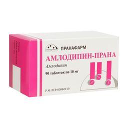 Амлодипин-Прана, 10 мг, таблетки, 90 шт.