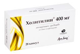 Холитилин, 400 мг, капсулы, 28 шт.