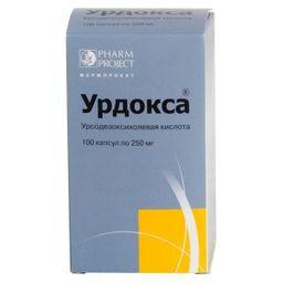 Урдокса, 250 мг, капсулы, 100 шт.