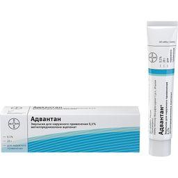Адвантан, 0.1%, эмульсия для наружного применения, 20 г, 1 шт.