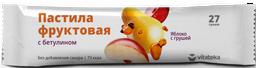 Витатека Пастила фруктовая Яблоко с грушей, 27 г, 1 шт.