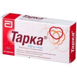 Тарка, 240 мг+4 мг, таблетки с модифицированным высвобождением, покрытые пленочной оболочкой, 28шт.