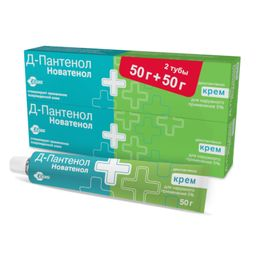 Д-Пантенол Новатенол, 5%, крем, 50 г, 2шт.