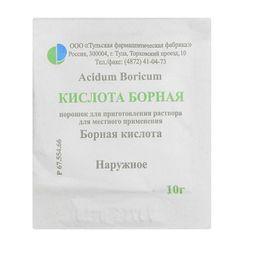 Борная кислота, порошок для наружного применения, 10 г, 1шт.