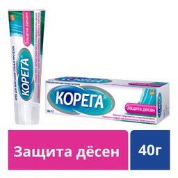 Корега крем для фиксации зубных протезов Защита десен