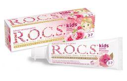 ROCS Kids Зубная паста Sweet princess, без фтора, паста зубная, с ароматом розы, 45 г, 1 шт.
