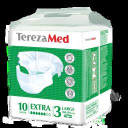 TerezaMed Extra подгузники для взрослых дневные, Large L (3), 100-150 см, 10шт.