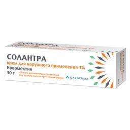 Солантра, 1%, крем для наружного применения, 30 г, 1 шт.