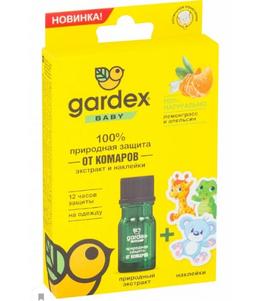 Gardex baby экстракт и наклейки от комаров, 4 мл, 1 шт.