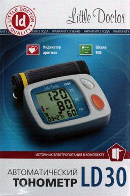 Тонометр автоматический Little Doctor LD30, с адаптером и стандартной манжетой (22-32 см), 1 шт.