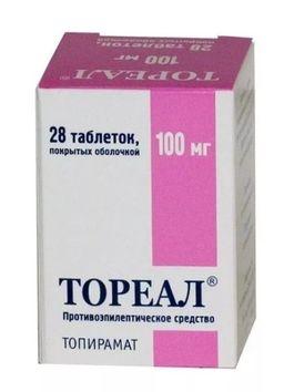 Тореал, 100 мг, таблетки, покрытые оболочкой, 28 шт.