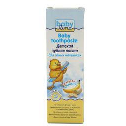 Babyline Зубная паста, для детей с 1-го года до 4-х лет, паста зубная, со вкусом банана, 75 мл, 1 шт.
