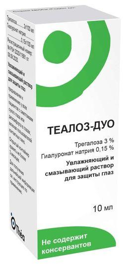 Теалоз-Дуо Увлажняющий и смазывающий раствор для защиты глаз