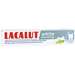 Lacalut White Alpenminze зубная паста, паста зубная, 75 мл, 1 шт.