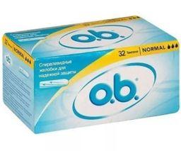 o.b. original normal тампоны женские гигиенические, тампоны вагинальные, нормал, 32 шт.
