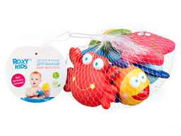 Roxy-kids Набор игрушек для ванны Морские обитатели 6 мес+, набор 6 шт., 1шт.