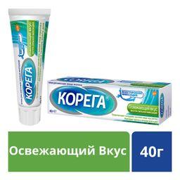 Корега Освежающий вкус. Крем для фиксации зубных протезов