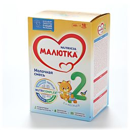 Малютка 2 Молочная смесь, смесь молочная сухая, 600 г, 1шт.