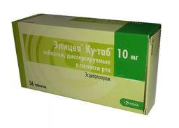 Элицея Ку-таб, 10 мг, таблетки, диспергируемые в полости рта, 56шт.