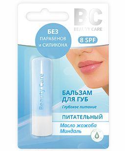 BC Бальзам для губ Питательный масло жожоба-миндаль, бальзам для губ, 4.5 г, 1 шт.