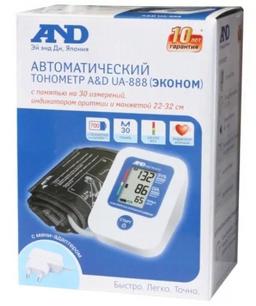 Тонометр автоматический AND UA-888 Эконом с адаптером, 1 шт.