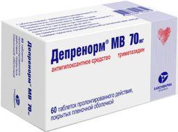 Депренорм МВ, 70 мг, таблетки пролонгированного действия, покрытые пленочной оболочкой, 60 шт.