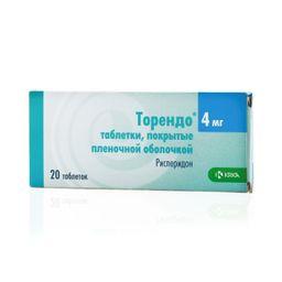 Торендо, 4 мг, таблетки, покрытые пленочной оболочкой, 20 шт.