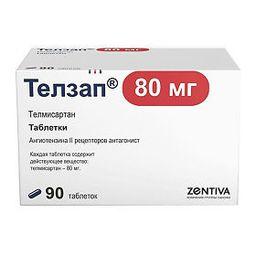 Телзап, 80 мг, таблетки, покрытые пленочной оболочкой, 90 шт.