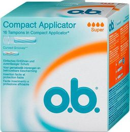 o.b. compact applicator super тампоны с аппликатором