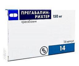 Прегабалин-Рихтер, 150 мг, капсулы, 14 шт.
