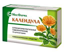 Календула (свечи гомеопатические), суппозитории ректальные гомеопатические, 10 шт.