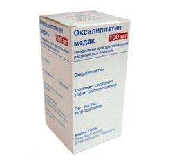 Оксалиплатин медак, 100 мг, лиофилизат для приготовления раствора для инфузий, 1 шт.