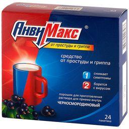 АнвиМакс, порошок для приготовления раствора для приема внутрь, черносмородиновые, 5 г, 24шт.