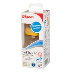 Pigeon бутылочка SofTouch Peristaltic Plus PPSU Пластиковая, 160 мл, 1шт.