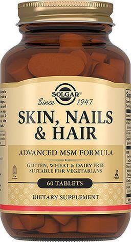 Solgar Таблетки для кожи, ногтей и волос, таблетки, 60 шт.