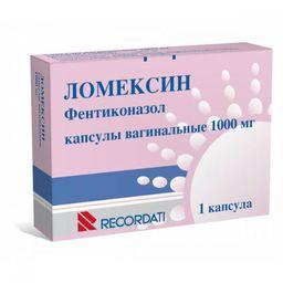 Ломексин, 1000 мг, капсулы вагинальные, 1 шт.