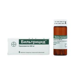 Бильтрицид, 600 мг, таблетки, покрытые пленочной оболочкой, 6шт.