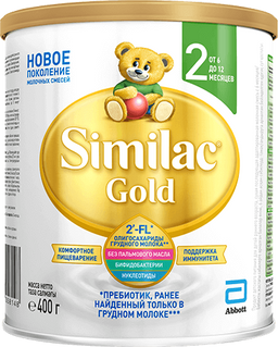 Similac Gold 2, для детей с 6 месяцев, смесь молочная сухая, 400 г, 1шт.