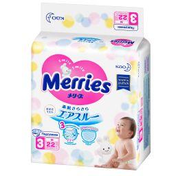 Подгузники детские Merries, 6-11 кг, р. M, 22шт.