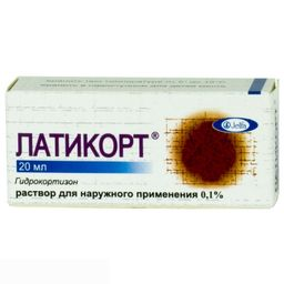 Латикорт, 0.1%, раствор для наружного применения, 20 мл, 1 шт.