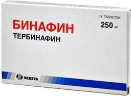 Бинафин, 250 мг, таблетки, 14 шт.