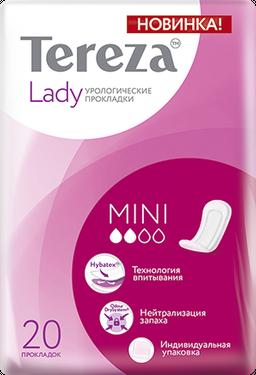 TerezaLady Mini прокладки урологические, 2 капли, 20 шт.