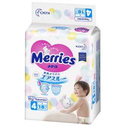 Подгузники детские Merries, 9-14 кг, р. L, 18шт.