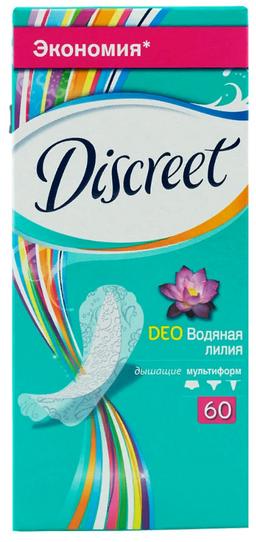 Discreet Deo Water Lily Multiform прокладки ежедневные, прокладки гигиенические, 60 шт.