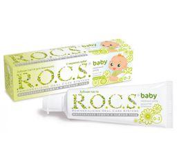 ROCS Baby Зубная паста Нежный уход Душистая ромашка, без фтора, паста зубная, 45 г, 1шт.