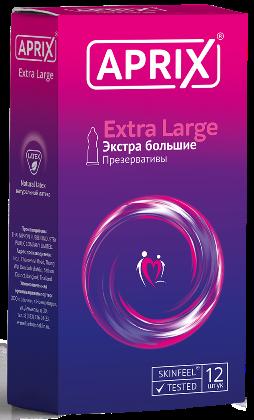 Презервативы Aprix Extra Large, презерватив, увеличенного размера, 12 шт.