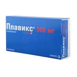 Плавикс, 300 мг, таблетки, покрытые пленочной оболочкой, 10шт.