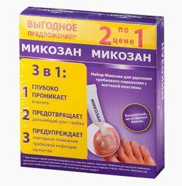 Микозан набор Промо 1+1, жидкость для местного применения, в комплекте с пилочками, 1шт.